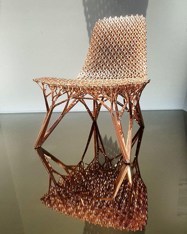 Joris Laarman Lab gradient copper chair